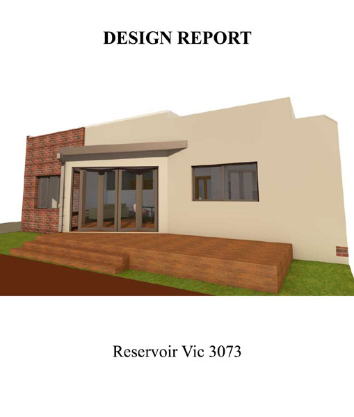 SINGLE STOREY EXTENSION DESIGN REPORT