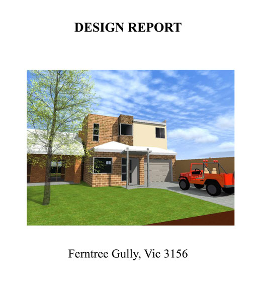 SINGLE UNIT DEVELOPMENT DESIGN REPORT 01